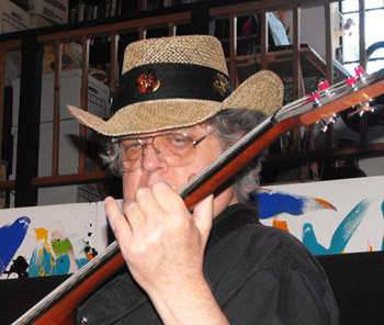 Photo of Claude Needham wearing Astral Travel Safari Hat with black band